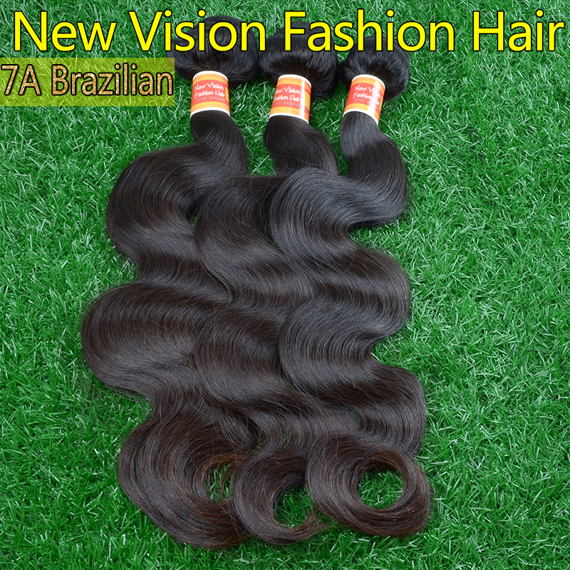 100% unprocessed Soft brazilian virgin hair body wave 3pcs Top Quality remy human hair extension wholesale brazilian body wave(China (Mainland))