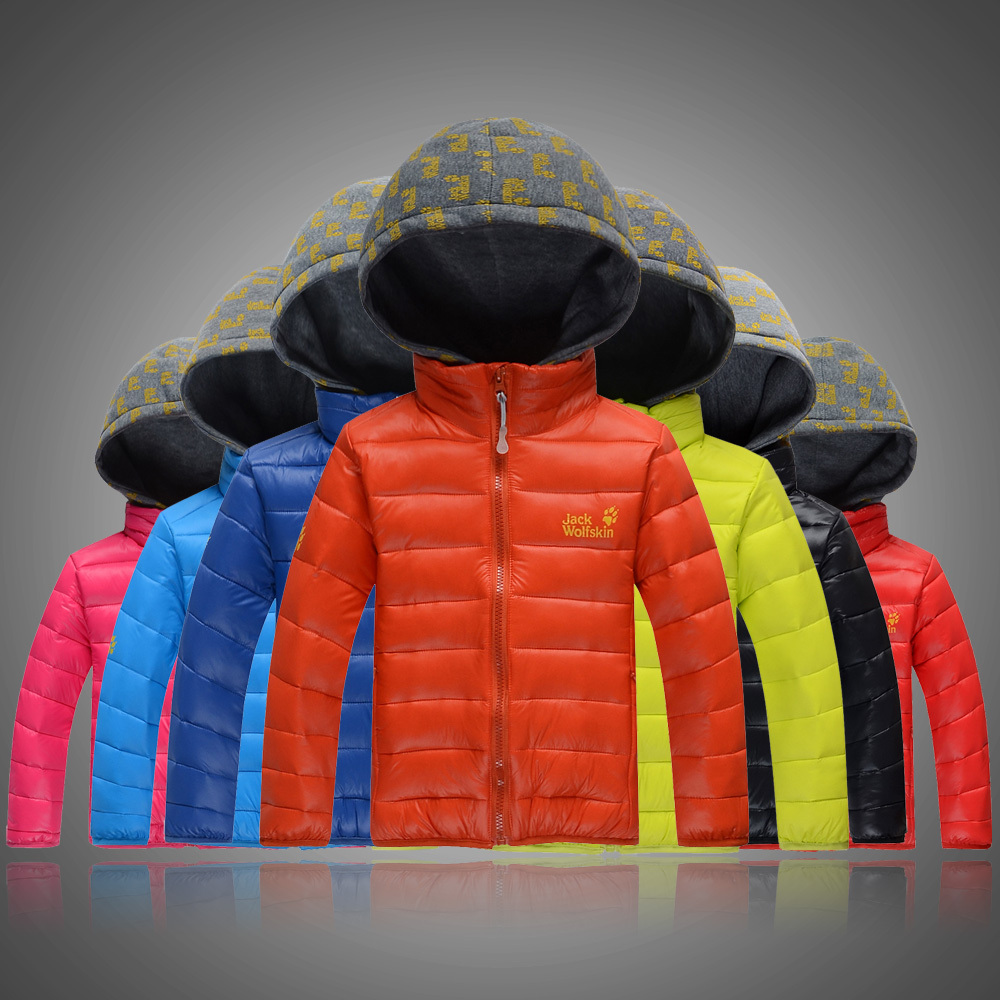 Free shipping 2014 popular boy hooded outerwear Candy color boy parka jackets for boys down coat children winter outwear(China (Mainland))