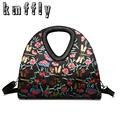 Embossed butterfly brand black patent leather handbags hand bags luxury bag famous brand designer vintage handbag