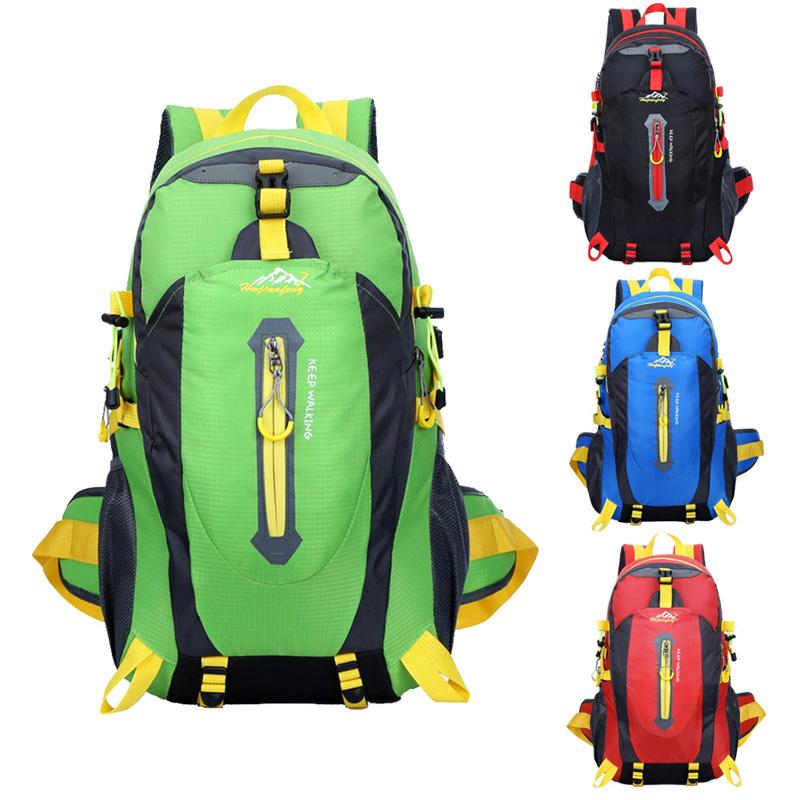 40L Waterproof Women & Men Travel Backpack Outdoor Mountain Camping Climbing Hiking Backpack Nylon Sport Bag