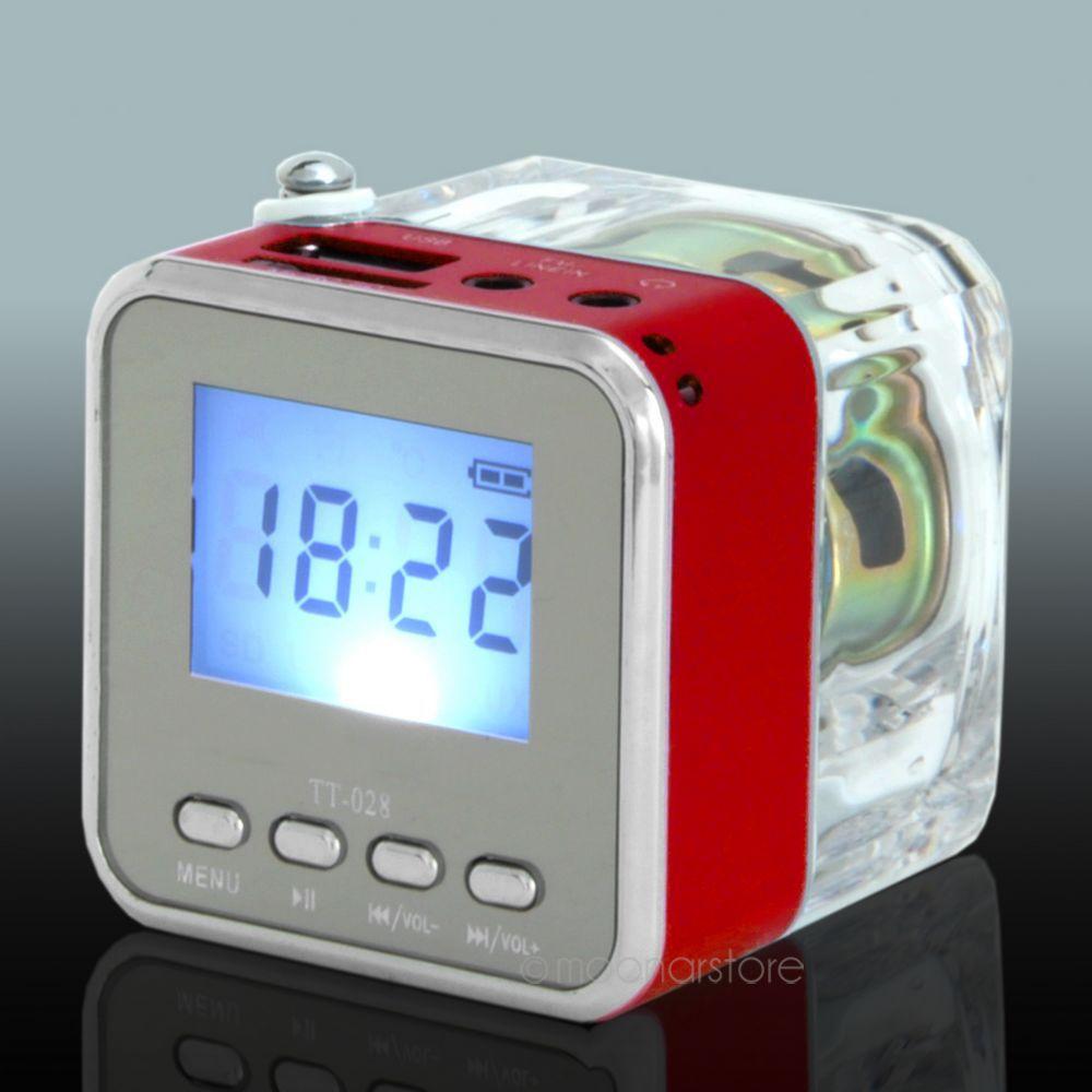 TT028 Mini Portable Speaker Micro SD/TF Music MP3 Player USB Disk FM Radio Blue Wholesale ZS*DA0860#M1(China (Mainland))