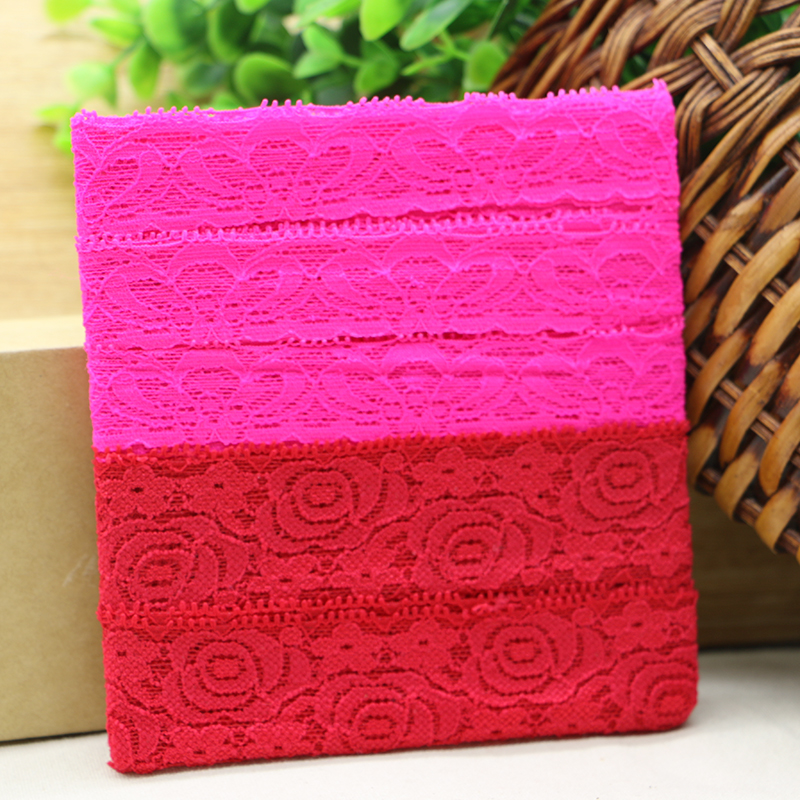 Free shipping 5yards/lot Good quality elastic lace DIY spandex lace trims trimmings Garment accessories(China (Mainland))