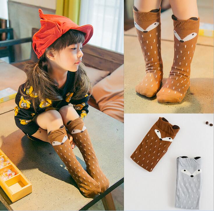 UPS shipping Baby Top Fashion  Unisex Baby Girl&amp;Boy Knee High Fox Socks Kids Cute Cartoon Socks meias infantil<br><br>Aliexpress