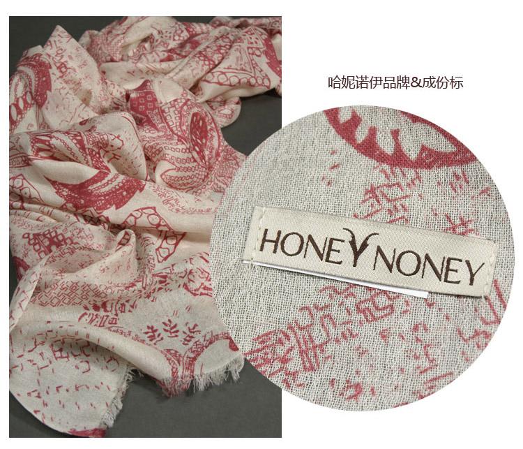 2016 Hot Sale Honey Noe Winter Light Luxury High-end Ladies Thin Silk Cashmere Scarf Increase Soft Printing