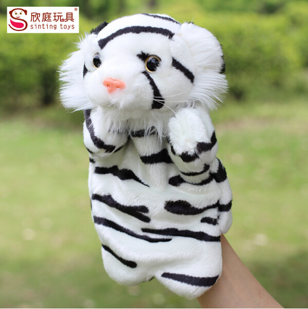 Newest Hand Puppet Plush Tiger Doll Toys Stuffed Animal Kid Gifts Toy Shops(China (Mainland))