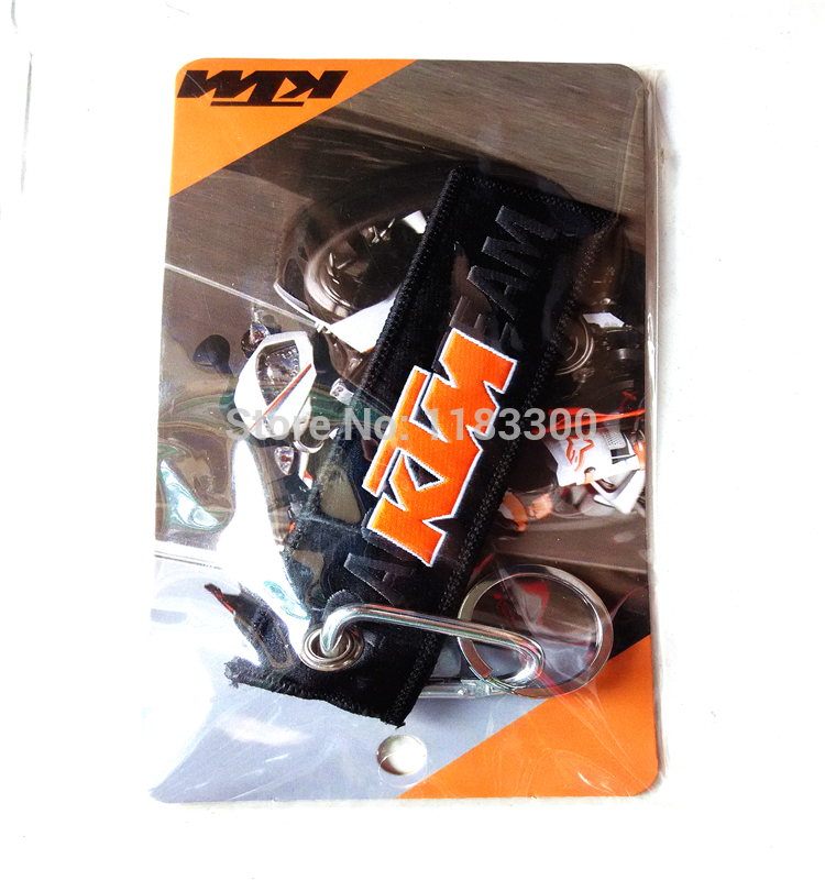12PCS/Pack High quality original KTM Racing Motorcycle keychains cotton embroider Key ring Steel key chain # 020-1<br><br>Aliexpress