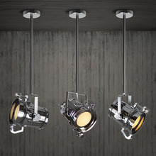 Post-modern Decor Cafe Office Loft Pendant Lights Art Searchlight Dual Suction Hanging Lamp FLRE33 Free shipping(China (Mainland))