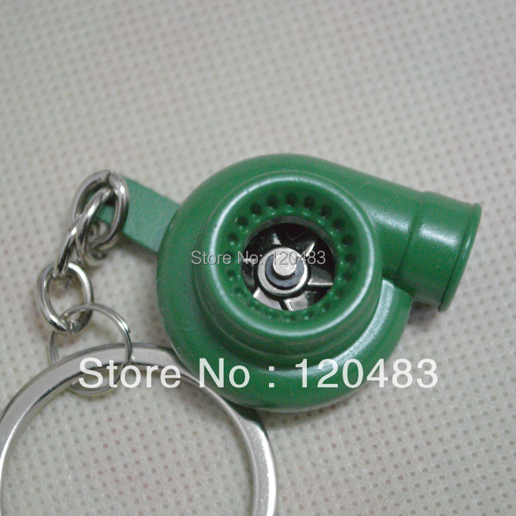 Turbo Charger, Turbocharger keychain keyring , Turbine, Turbo, Kits, metal Keychains green color - Shopping bag factory store