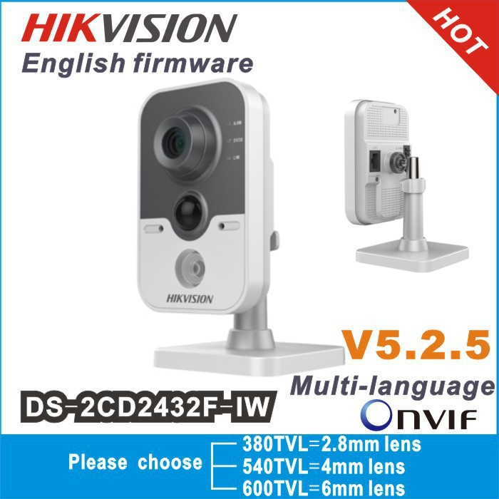 instock Hikvision DS-2CD2432F-IW 3MP w/POE IP network camera Built-in microphone DWDR & 3D DNR & BLC Wi-Fi DS-2CD2432F-I (w)(China (Mainland))