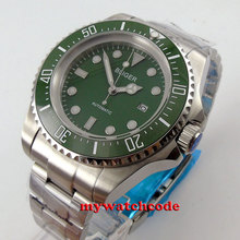 Big face 44mm bliger green dial Ceramic Bezel automatic movement mens watch B70(China (Mainland))