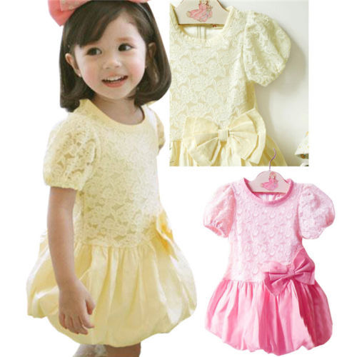 Rosette Silk Dress Easter Flower Baby Girl Wedding dress Size 1-2 2-3 3-4 Years(Hong Kong)