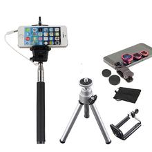 Buy 2017 Phone Camera Lentes Kit Fish Eye Wide Angle Macro Fisheye Lens Samsung iPhone Huawei Xiaomi Selfie Stick Monopod Tripod for $8.06 in AliExpress store