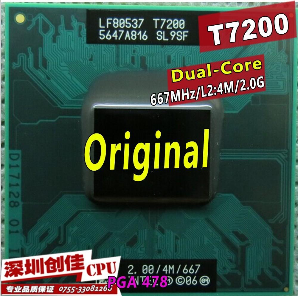 Процессор для ПК intel Core 2 Duo T7200 4M 479 cache/2.0ghz/667/dual/Core 945