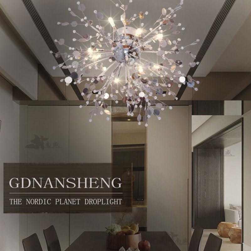 Modern Crystal Chandelier Living Room lustres de cristal Decoration Tiffany Pendants and Chandeliers Home Lighting Indoor Lamp(China (Mainland))