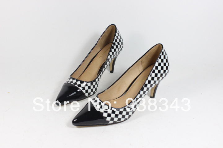 2014 Pointed toe Lady high heel shoes Classic designer women's Pumps High Heels leather Platform evenings woman WN13