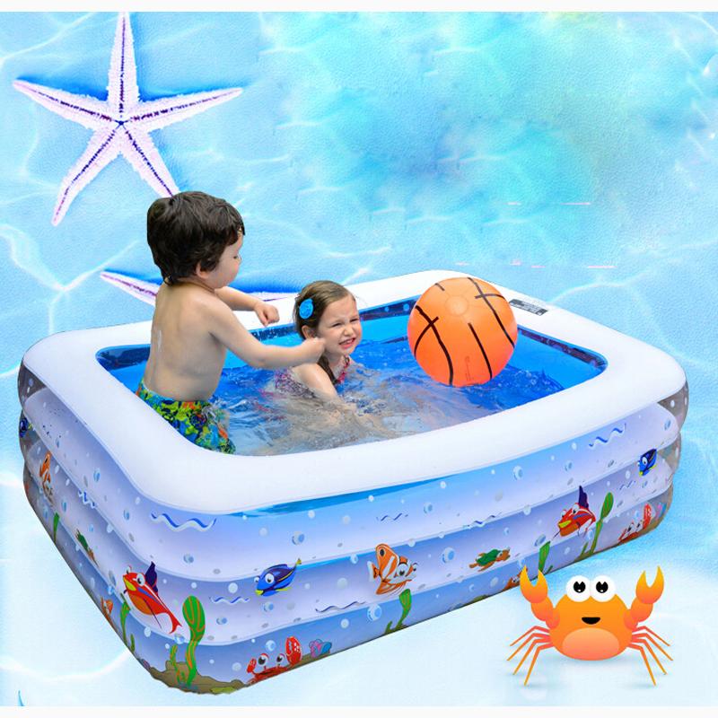 Infantil inflavel paddling pool large swimming pool for Large paddling pool