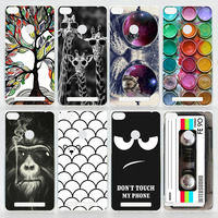 Case For Xiaomi Redmi 3 Pro With The Fingerprint ID Colorful Printing Drawing Phone Cover Fashion Plastic Hard Phone Cases