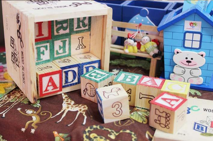 Free delivery, educational toys, 27 PCS English alphabet blocks, wooden toys, children's early learning AIDS(China (Mainland))