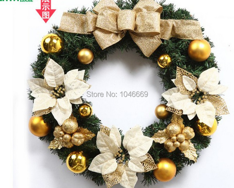christmas wreath decorative rattan balls hanging flower hanging tree decoration(China (Mainland))