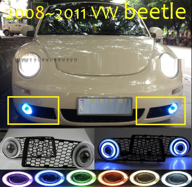 2008~2011 Volkswagen beetle HID Xenon/halogen Fog light+Free ship,CCFL 35/55W 12V,Option ballast;excellent item!(China (Mainland))