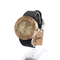 BOBO BIRD B30 Newest Zebra Wooden Watch Japan Movement Quartz Watches with Soft Leather Band Luxury