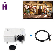 Excelvan UC28 Portable LED Projector Cinema Theater PC&Laptop VGA/USB/SD/AV/HDMI Input White Mini Pocket Projector(China (Mainland))
