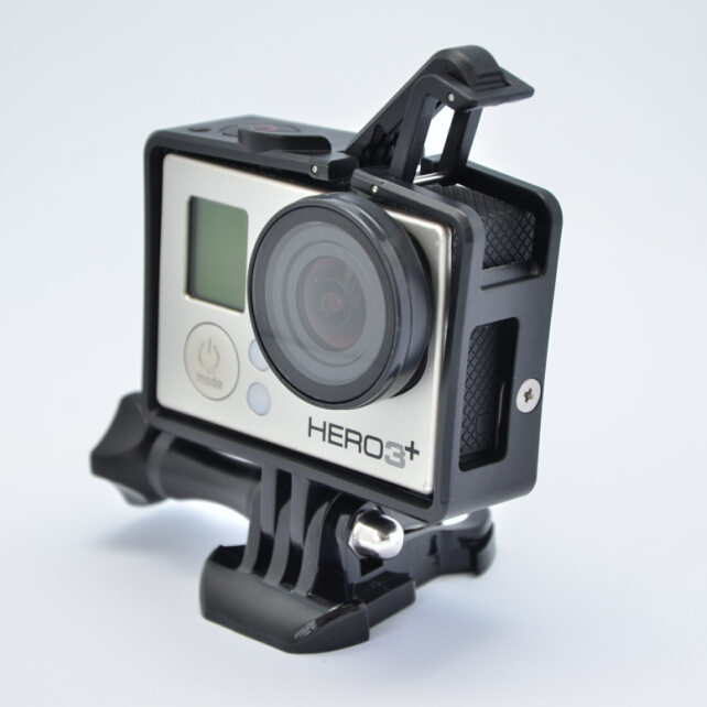 Gopro HERO4 Standard Frame BacPac Frame expanded edition frame(one pcs Gopro FPV Protective UV Lens)  For GoPro HD HERO4/ 3+/3