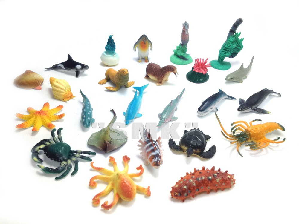 Sea Creature Toys : Small marine animal model toys for children cognitive