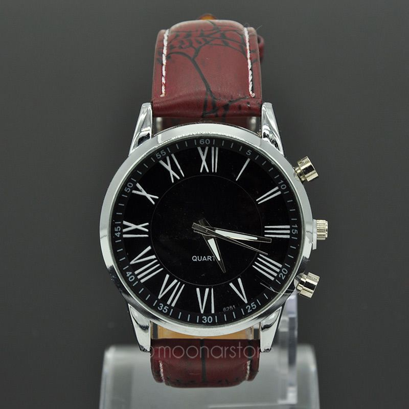 Daily Water Resistant Quartz Watch Fashion 2015 Roman Number Watches Men Brand PU Leather Geneva Men