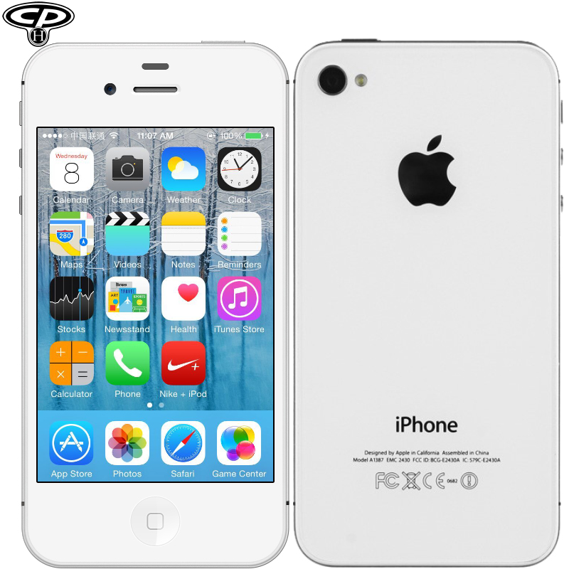 "Original Apple iPhone 4S Unlocked Dual-Core 16GB / 32GB 3.5"" IPS 8MP 1080P WIFI 3G Network IOS 8 CellPhone Used(China (Mainland))"