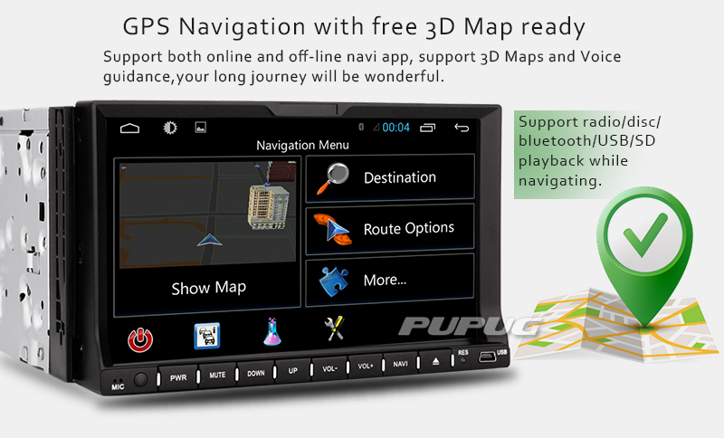 "universal 2 Din car dvd player Quad Core Android 4.4 auto radio 7"" HD capacitive screen headunit GPS Radio WIFI Free map camera"