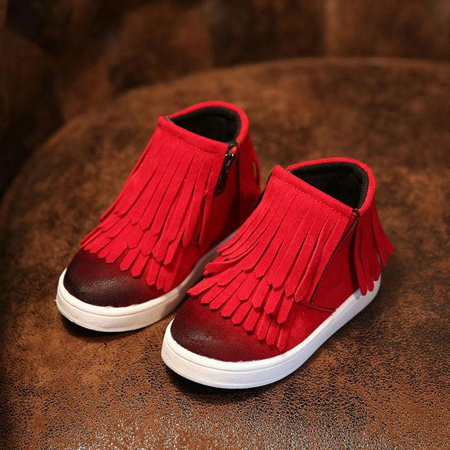 Дети Детские Тренеры Shoes Девушки Парни Сапоги 2016 Резиновые Сапоги Детская Мода Спортивная Shoes Superfly Оригинал Кисточкой Shoes Comfortable
