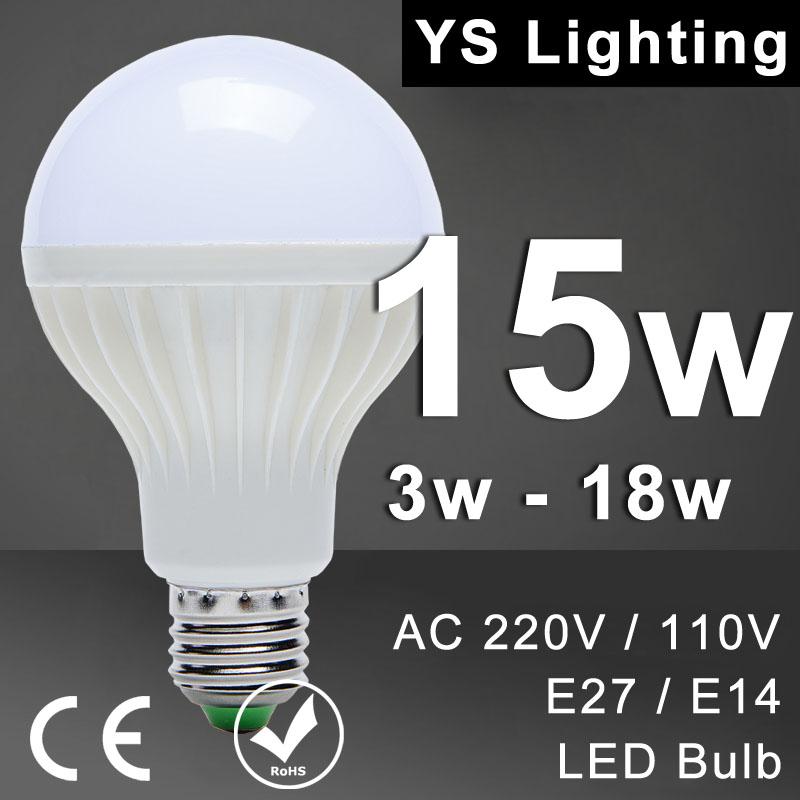 Lamp LED Bulb 3W 5W 7W 9W 12W 15W 18W LED E27 E14 110V 220V 240V Lampada Led Lamp Cold White Warm White LED light Bulb SMD 5730(China (Mainland))