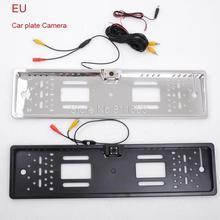 Night vision EU car license camera ,new style car number plate camera 1pcs/lot Rear Camera Parking Assistance(China (Mainland))