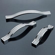 96mm 128mm 160mm moderne möbel griffe silber küche cabiner schublade ziehen kommode cupbord Kleiderschrank türgriff(China (Mainland))