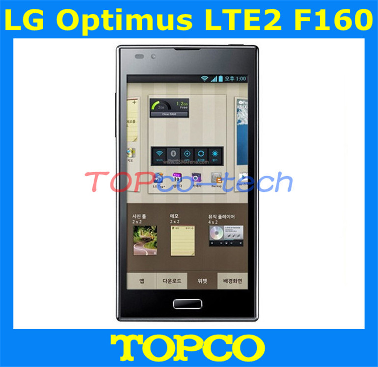 "Hot sale LG Optimus LTE2 original unlocked LG F160L cellphone 4.7"" Touch LG F160S 16G ROM 2GB RAM 8MP Camera LTE Android phone(China (Mainland))"