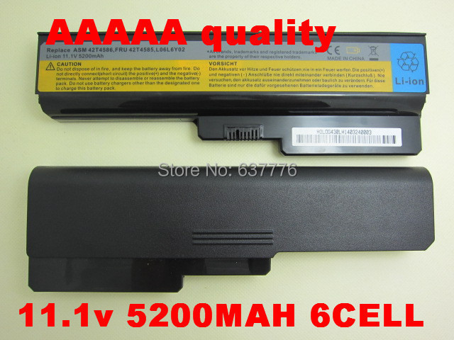 5200MaH Laptop battery Lenovo 3000 IdeaPad G430 G450 G530 G550 N500 Z360 B460 B550 V460 V450 G455 G555 Y430 l08s6y02 - SUNWAY ELECTRONIC Store store