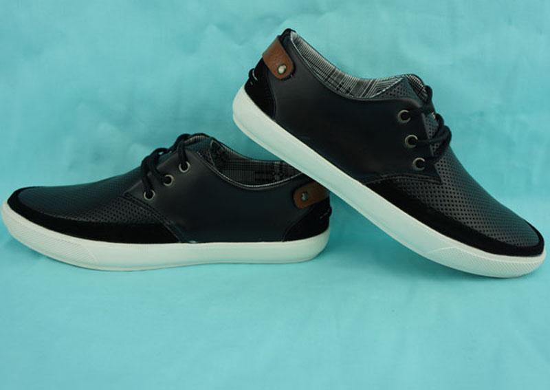 england style Fashion shoes unisex black popular shoes men men shoes 2015 Ox fur &amp; Genuine Leather Deodorization Button<br>