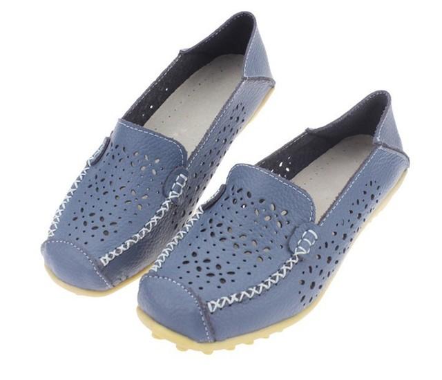 [ Мисс C ] обувь женщины весна осень цветочные выдалбливают из натуральной кожи балета ...