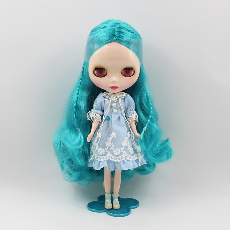 Takar Blyth long curly hair a dark blue cloth doll suitable for changing baby girl gifts<br><br>Aliexpress