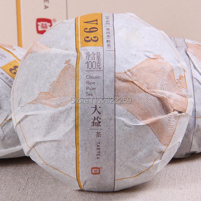 GREENFIELD Tae Tea Puer V93 2015 yr MengHai v93 Tea Factory Dayi TAETEA Premium Ripe