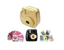 light yellow Mini 8 Cartoon Case Bag/ Pink Mini 8 Close-Up Len/ 3 inch Photo Frame/ Decor Sticker Borders) – yellow