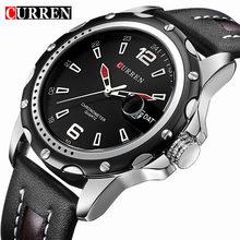 Buy Curren Men Leather Watch Top Brand Luxury Sport Quartz Wrist Watch Men Famous Casual Male Watches Clock Xfcs Relogio Masculino for $12.99 in AliExpress store
