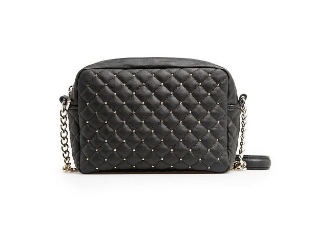 Black Small Bag Designer Handbags High Quality Chains+PU Leather Women Bags Fashion Famous Brand Rivet Shoulder Messenger Bag(China (Mainland))