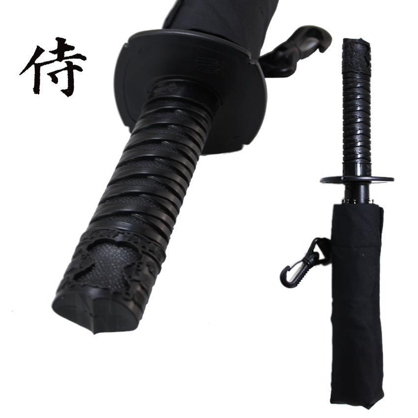 Cool Samurai swords umbrella folding umbrella sword creative Half self-opening umbrella Wind uv protection Deadpool Umbrella(China (Mainland))