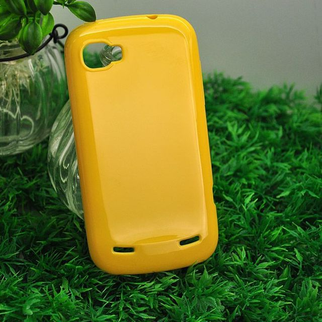 New Arrival Yellow Protective Soft TPU Gel Back Case For ZTE  V970 U970 N970 Cell Phone Cover free shipping
