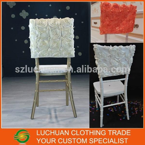 Elegant Wholesale Ivory Wedding Rosette Chair Cover(China (Mainland))