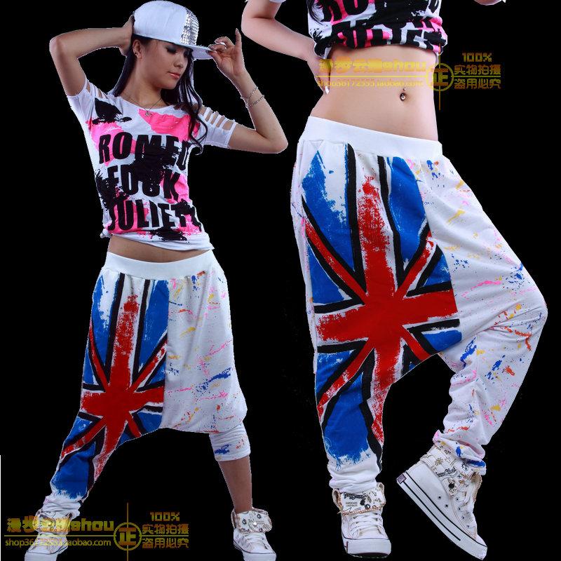2016 Best quality Women's clothing fashion Doodle ds costumes dance jazz pants hip hop female harem trousers - Cupid popular front shop store