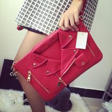 Дизайнерские сумки высокое качество женщин кожаная куртка сумки женская одежда плеча сумку день портмона муфты сумки