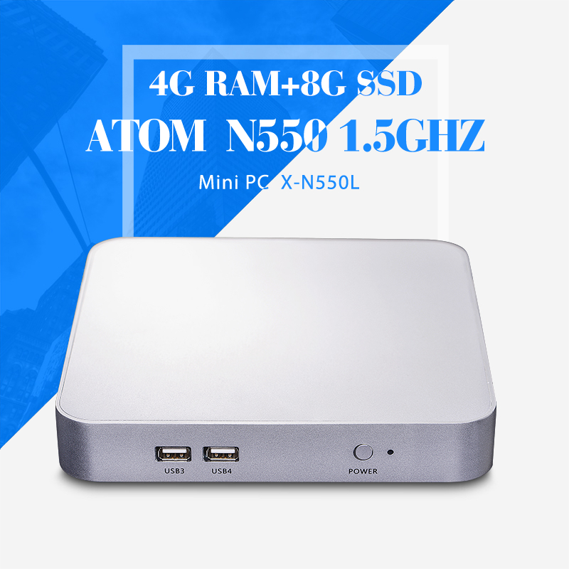 N550 4g ram 8g ssd+wifi thin client computer mini embedded mini pc support Linux OS Ubuntu thin client mini pc(China (Mainland))